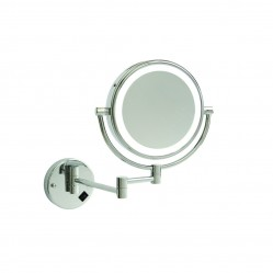 ablaze 1 & 8x Magnification Wall Mounted Shaving Mirror Concealed Wiring