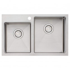 Oliveri Apollo 1 & 3/4 Offset Bowl Sink right hand larger bowl