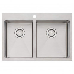 Oliveri Apollo 1 & 3/4 Bowl Sink right hand larger bowl