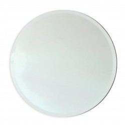 ablaze Contractor 600mm Diameter Round Mirror with 18mm Bevel Edge, Hangers and Demister