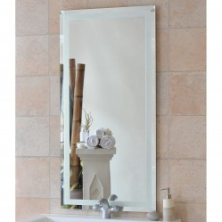 ablaze Contractor 600x750mm Renee Series Mirror with Hangers and Demister