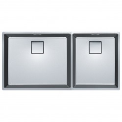 Franke Centinox Double Bowl Sink
