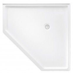 MARBLETREND FLINDERS POLYMARBLE REAR OUTLET CORNER SHOWER BASE 914MM X 914MM