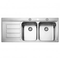 Franke Epos Double Bowl Sink with Drainer