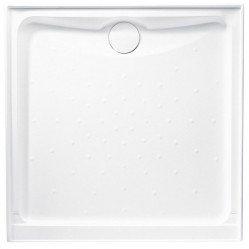 JOHNSONS SUISSE EVO POLYMARBLE SQUARE SHOWER BASE 900MM X 900MM LEFT HAND RETURN