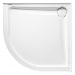 JOHNSONS SUISSE EVO POLYMARBLE CURVED SHOWER BASE 914mm x 914mm