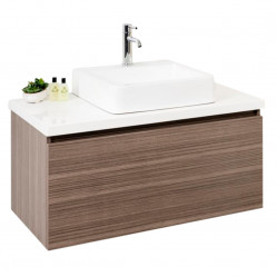 BOURNE FJORD WALL HUNG VANITY with Polymarble 900 Top & MARLEY Ceramic Basin