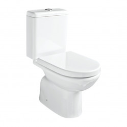 Argent Mode Close Coupled Toilet P Trap Bottom Entry