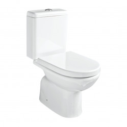 Argent Mode Close Coupled Toilet P Trap Rear Entry