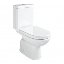 Argent Mode Close Coupled Toilet S Trap Bottom Entry