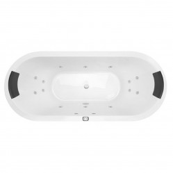 Decina Lido 1690mm Contour 14-Jet Spa Bath
