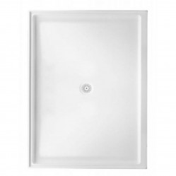 MARBLETREND FLINDERS POLYMARBLE RECTANGLE SHOWER BASE 900MM X 1220MM REAR OUTLET