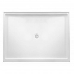 MARBLETREND FLINDERS POLYMARBLE RECTANGLE SHOWER BASE 1220MM X 900MM REAR OUTLET