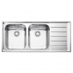 Franke Neptune DOUBLE BOWL SINK WITH RIGHT HAND DRAINER