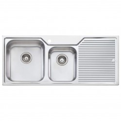 Oliveri Nu-petite 1 & 3/4 Left Hand Bowl Sink with Drainer 3 Taphole