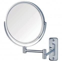 ablaze 1 & 8 x Magnification Chrome Wall Mounted Shaving Mirror, 200mm Diameter
