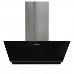 KLEENMAID VERTICAL BLACK GLASS WALL MOUNTED 90CM RANGEHOOD