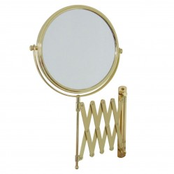 ablaze 1 & 4x Magnification Gold Wall Mounted Shaving Mirror, 200mm Diameter