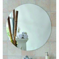 Ablaze 600mm Diameter Polished Edge Round Tyler Series Mirror with Demister