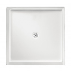MARBLETREND FLINDERS POLYMARBLE SQUARE SHOWER BASE 900MM X 900MM DOUBLE ENTRY