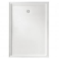 MARBLETREND FLINDERS POLYMARBLE RECTANGLE SHOWER BASE 900MM X 1220MM RIGHT HAND REUTURN