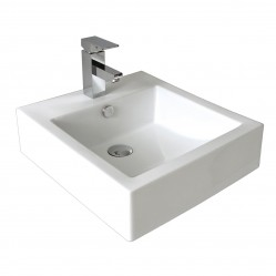 seima KYRA Ceramic above counter basin, square no taphole