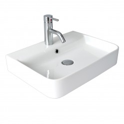 SEIMA PLATI Ceramic above counter basin, rectangular, 1 taphole