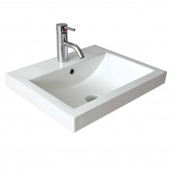 seima plati Ceramic inset above counter basin, rectangular, 1 taphole