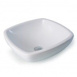 seima LIADI Ceramic inset above counter basin, rounded square