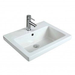 seima plati Ceramic inset above counter basin, rectangular, no taphole