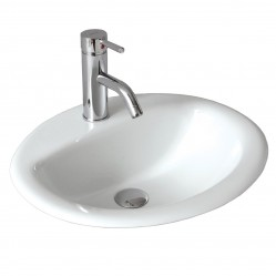 seima CHIOS Ceramic inset above counter basin, oval  1 taphole