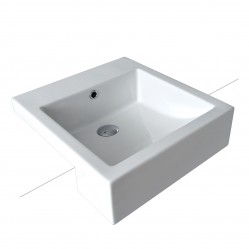 seima kyra Ceramic semi-recessed basin, square, no taphole