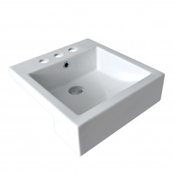 seima kyra Ceramic semi-recessed basin, square, 3 tapholes