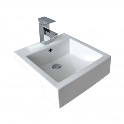 seima kyra Ceramic semi-recessed basin, square, 1 taphole