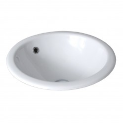 SEIMA IOS Ceramic inset above counter basin, round