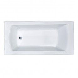 SEIMA SELECT INSET BATH 1525MM WITH OVERFLOW