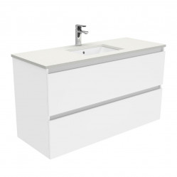 Fienza Sarah Crystal Pure Undermount 1200 Quest Wall-Hung Vanity