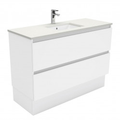 Fienza Sarah Crystal Pure Undermount 1200 Quest Vanity on Kick