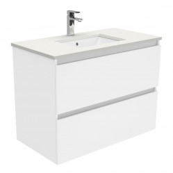 Fienza Sarah Crystal Pure Undermount 900 Quest Wall-Hung Vanity