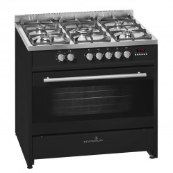 Scandium BLACK UPRIGHT COOKER GAS-ELECTRIC 90CM