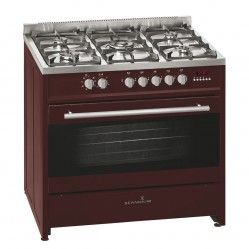 SCANDIUM BURGUNDY UPRIGHT COOKER GAS-ELECTRIC 90CM