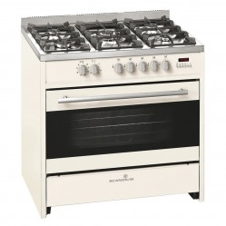 SCANDIUM CREAM UPRIGHT COOKER GAS-ELECTRIC 90CM
