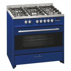 SCANDIUM DARK BLUE UPRIGHT COOKER GAS-ELECTRIC 90CM