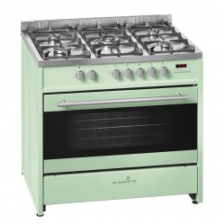 SCANDIUM LIGHT GREEN UPRIGHT COOKER GAS-ELECTRIC 90CM