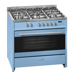 SCANDIUM LIGHT BLUE UPRIGHT COOKER GAS-ELECTRIC 90CM