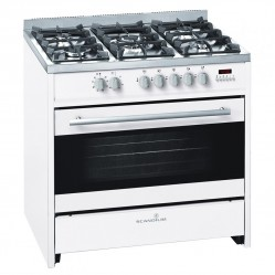 SCANDIUM WHITE UPRIGHT COOKER GAS-ELECTRIC 90CM