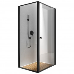 BELLA VISTA SEMI FRAMELESS SHOWER MATTE BLACK