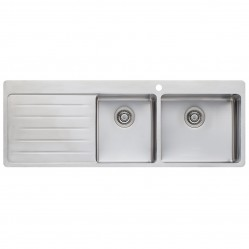 Oliveri Sonetto 1 & 3/4 Right Hand Bowl Sink with Drainer 1 Taphole