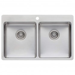 Oliveri Sonetto Double Bowl Topmount Sink