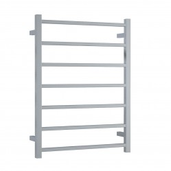 THERMORAIL 7 BAR 83W STRAIGHT SQUARE LADDER 600 X 800MM STAINLESS STEEL